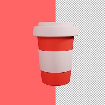 Illustrazione di design della tazza di caffè 3d