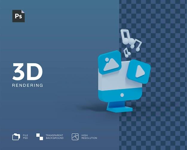 Illustrazione del computer 3d