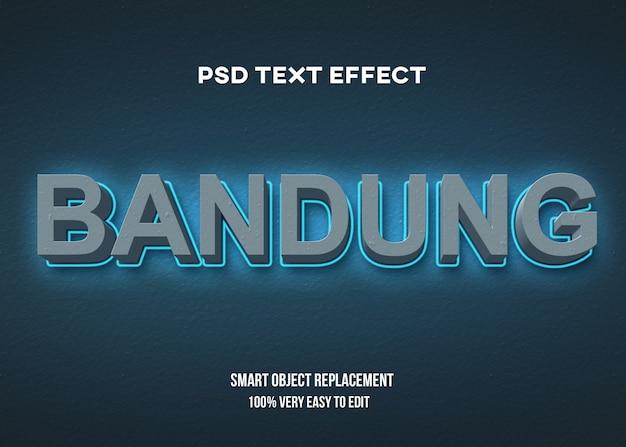 Blu concreto 3d con effetto del testo di incandescenza