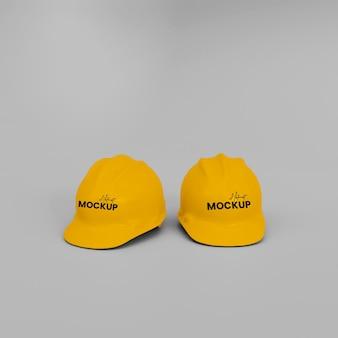 Mockup di casco da costruzione 3d