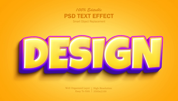 Effetto di testo gradiente freddo 3d