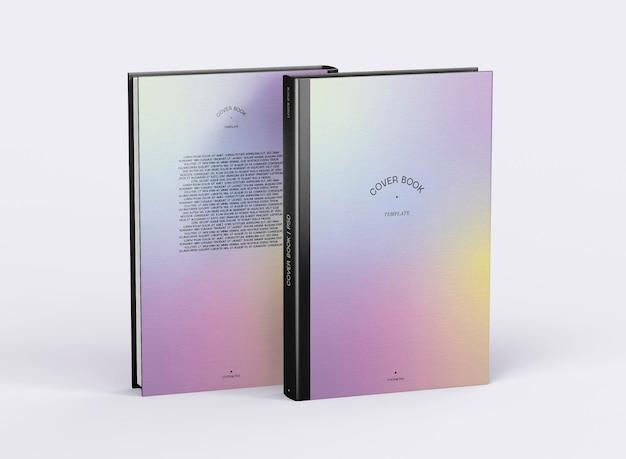 Mockup di libro con copertina e retro copertina 3d