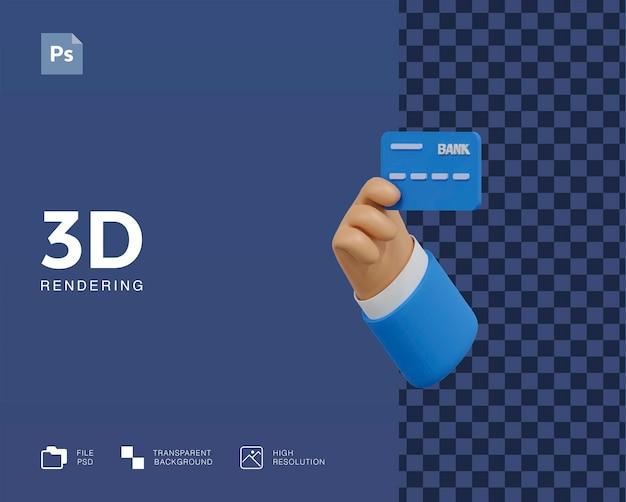 Illustrazione 3d della carta di credito