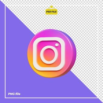 3d cerchio icona instagram