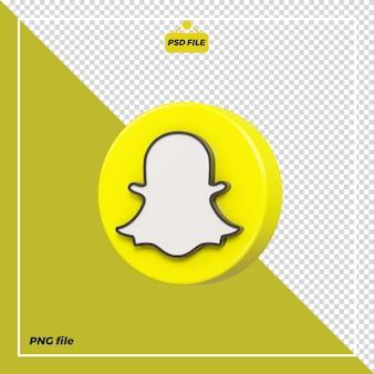 Icona snapchat cerchio 3d