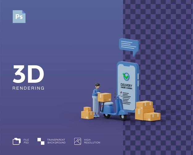 Illustrazione di consegna 3d