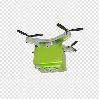 Consegna 3d di consegna sicura tramite drone consegna sicura di pacchi tecnologie moderne