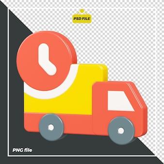 Progettazione 3d di camion per le consegne