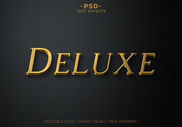 Testo modello 3d deluxe gold style 2 effetti