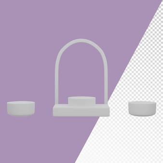 Modello di immagine di sfondo del podio arrotondato di forma diversa 3d