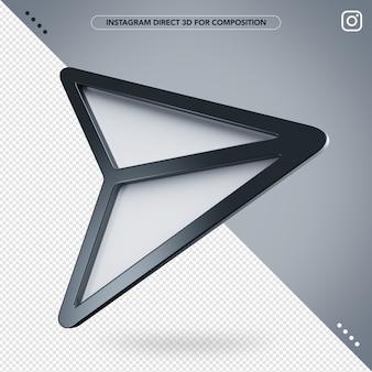 Instagram diretto 3d per il compositing