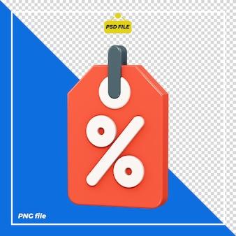 Design di tag sconto 3d