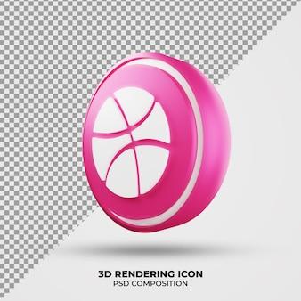 Icona di rendering 3d dribbling