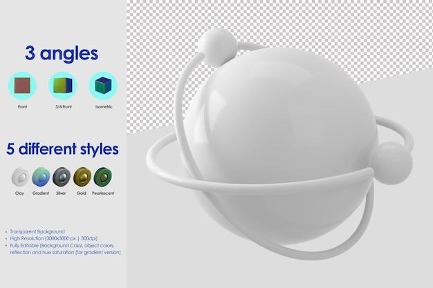 Icona di connessione di terra 3d