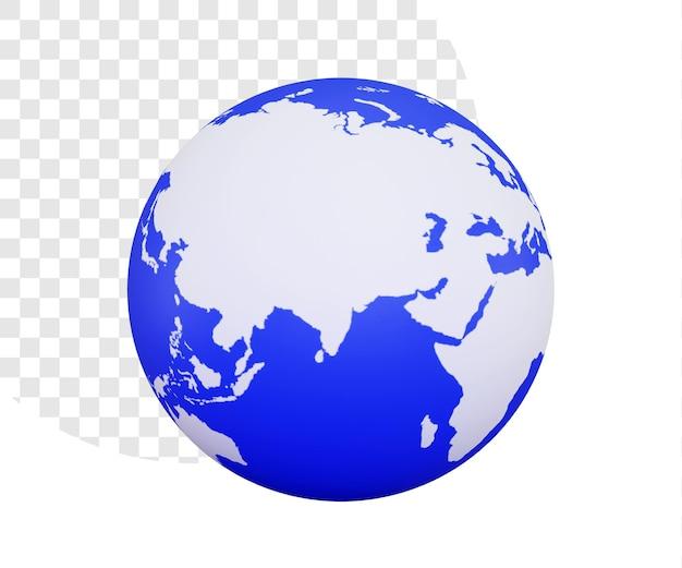 Illustrazione 3d della terra