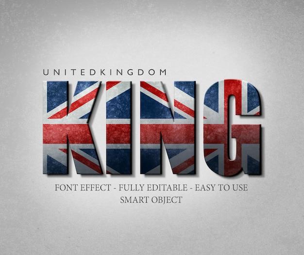 3d effect font regno unito bandiera