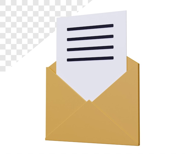E-mail 3d con lettera
