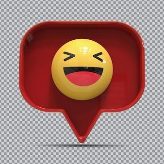 Divertimento emoji 3d da facebook