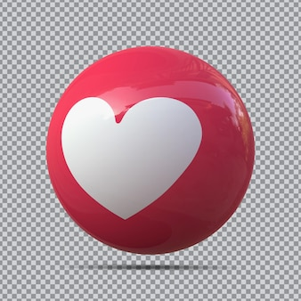 Amore emoji 3d da facebook