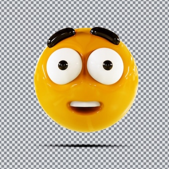 Emoji 3d wow design creativo