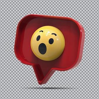 Emoji 3d wow da facebook