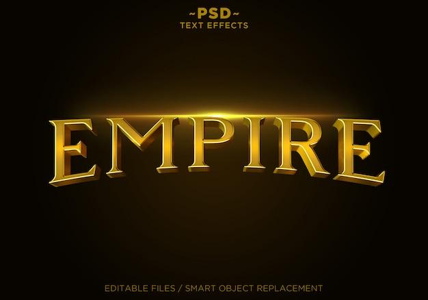 Testo modello 3d empire gold effects