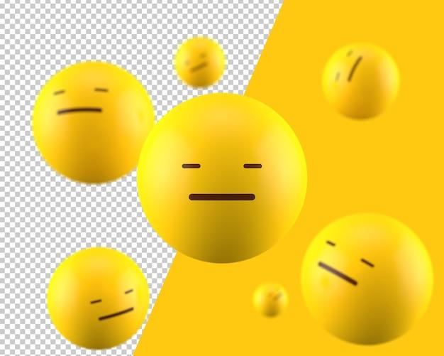 Icona di emoticon inespressiva 3d