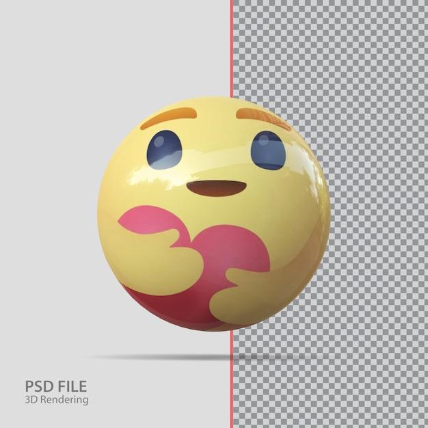 Emoji facebook 3d cura lusso