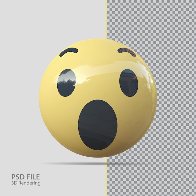 Emoji facebook 3d wow lusso