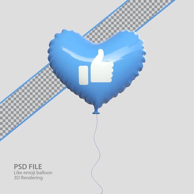 3d facebook come emoji con stile palloncino