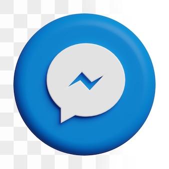 Icona di messaggistica facebook 3d