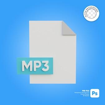 Formato icona file 3d mp3