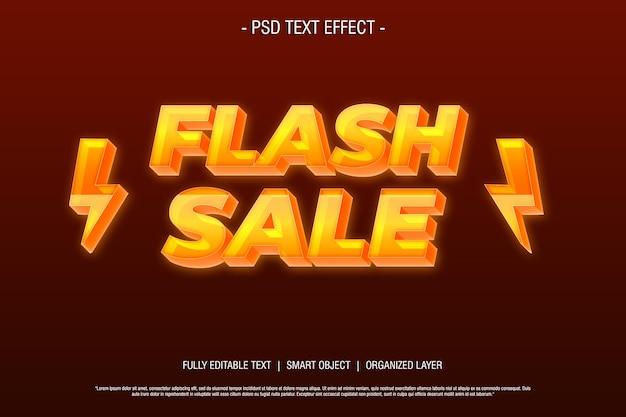 Stile di testo vendita flash 3d modificabile