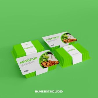 Mockup di scatola per alimenti in lamina 3d