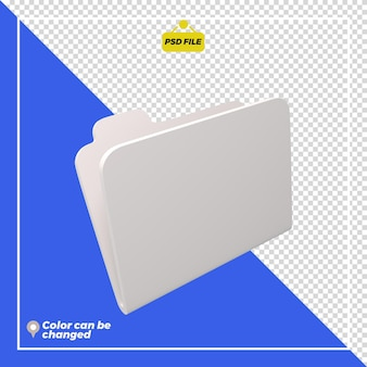 Rendering dell'icona della cartella 3d isolato
