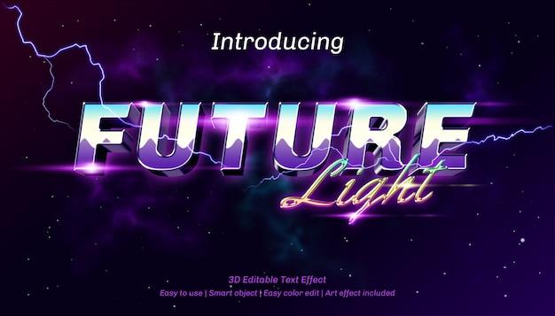 Effetto di testo modificabile della luce futura 3d