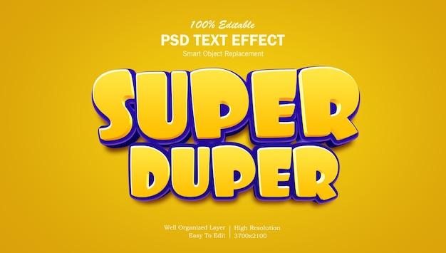 Modello di effetto testo in stile logo gioco 3d