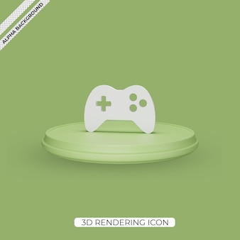 3d gioco render icona isolata