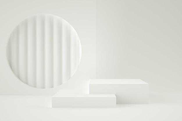 Palco geometrico 3d per posizionamento del prodotto