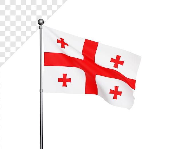Illustrazione 3d della bandiera della georgia