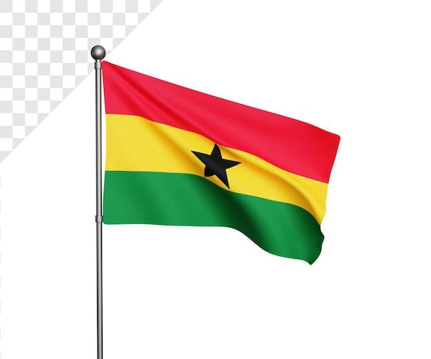 3d bandiera del ghana illustrazione