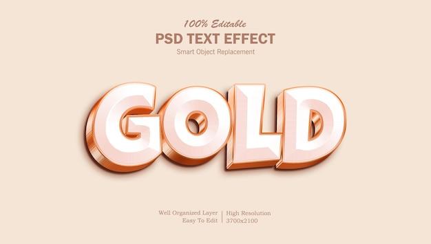 Effetto di testo photoshop modificabile in oro 3d