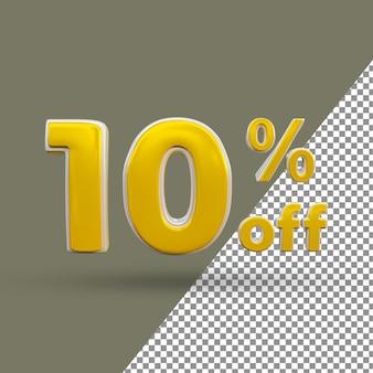 Testo oro 3d numero 10% di sconto