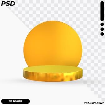 Podio di lusso dorato 3d