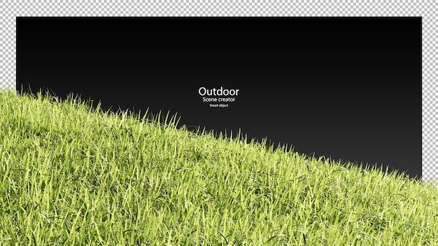 Campo in erba 3d