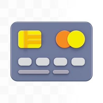 Carta di credito 3d grey