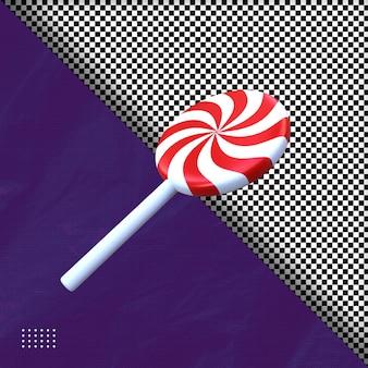 Illustrazione 3d di caramelle di halloween