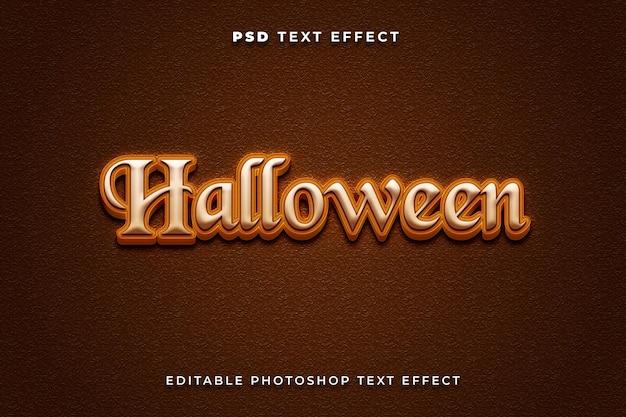 Modello di effetto testo 3d halloween