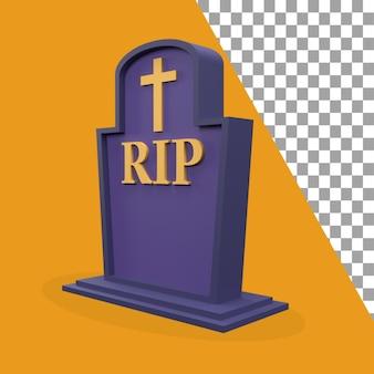 Icona di lapide a tema halloween 3d rivolta verso sinistra