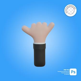 Chiamata con gesto della mano 3d nella parte anteriore